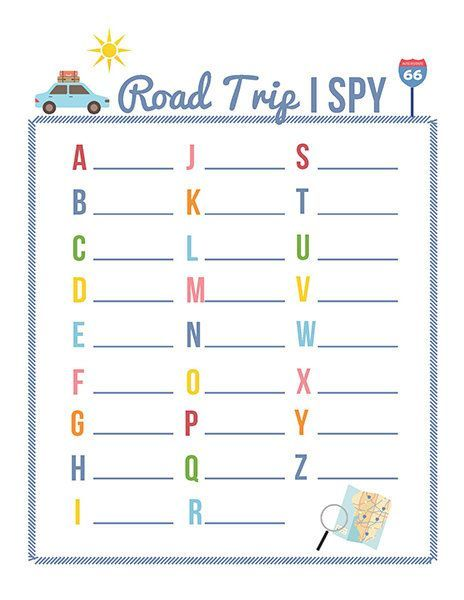 Here are three printable road trip games - Road Trip I Spy, Road Trip Bingo, and the Road Trip License Plate Game.