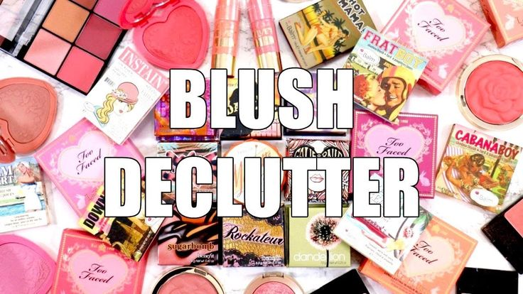 Decluttering Makeup Collection 2017 || Blushes Declutter & Purge