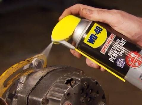 Another great use for WD 40?   Removes rusted bolts faster and easier, this is why we recommend every DIY fanatic to keep this can in their tool box.