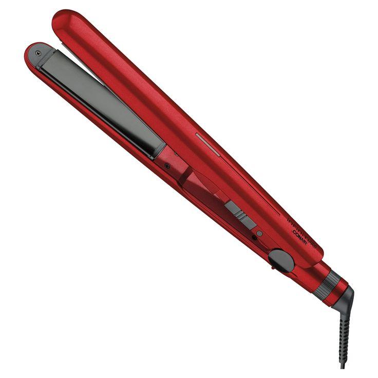 Conair Infiniti Pro 2X Titanium Ceramic Flat Iron Red 1