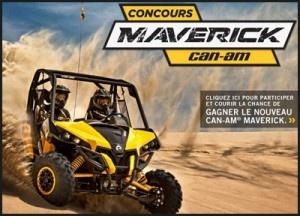 Gagnez un véhicule tout-terrain Can-Am Maverick.   Se termine le 12 décembre.   http://rienquedugratuit.ca/concours/vehicule-can-am-maverick/