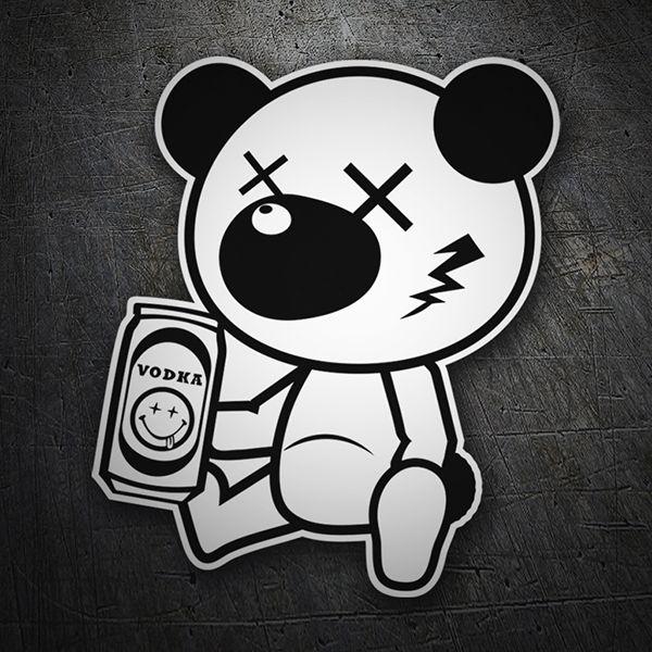 Pegatinas: Oso borracho #coche #pegatina #sticker