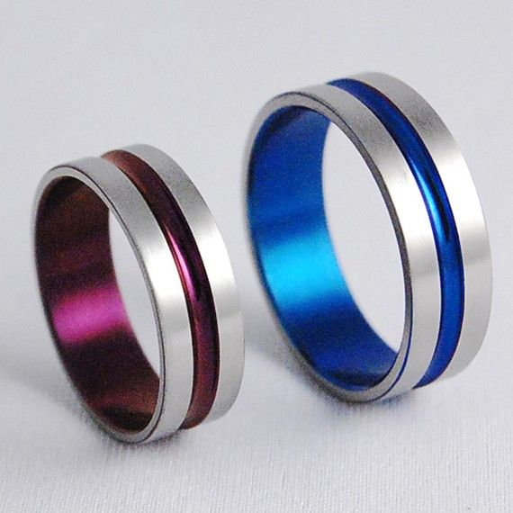 Titanium Wedding Rings  Dionysus Bands  Price by RomasBanaitis, $160.00