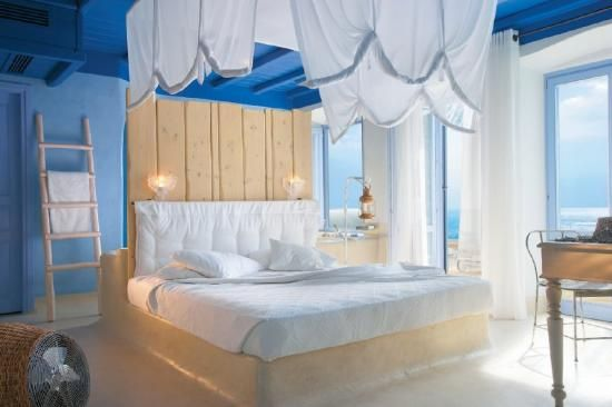 """10 extraordinarily designed hotels :::   8. Grecotol Mykonos Blu Hotel, Mykonos, Greece ::: """"This paradise which combines luxury with simplicity in a marvelous natural environment!"""""""