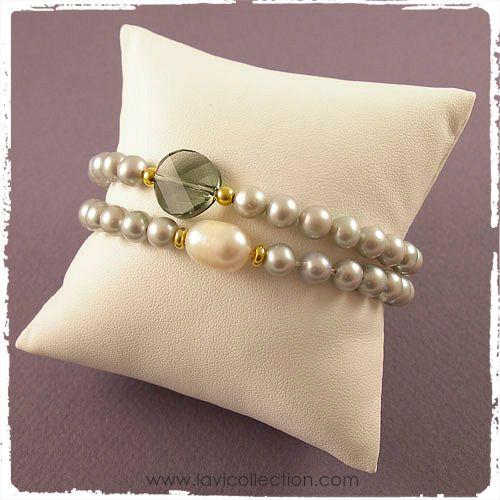 Freshwater pearls with Swarovski elements!  Zoetwaterparels met Swarovski elements!