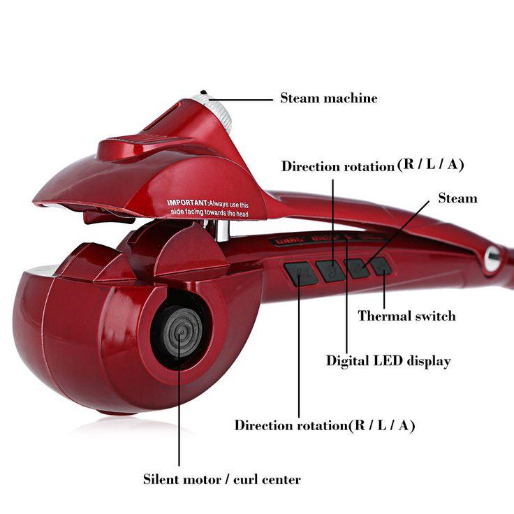 Recto Ondulado Rizado Auto Eléctrica Rizador de Pelo de Hierro Magia Rizador de Pelo Que Labra la Herramienta Magic Curling Cerámica Rodillo de Pelo Oleada