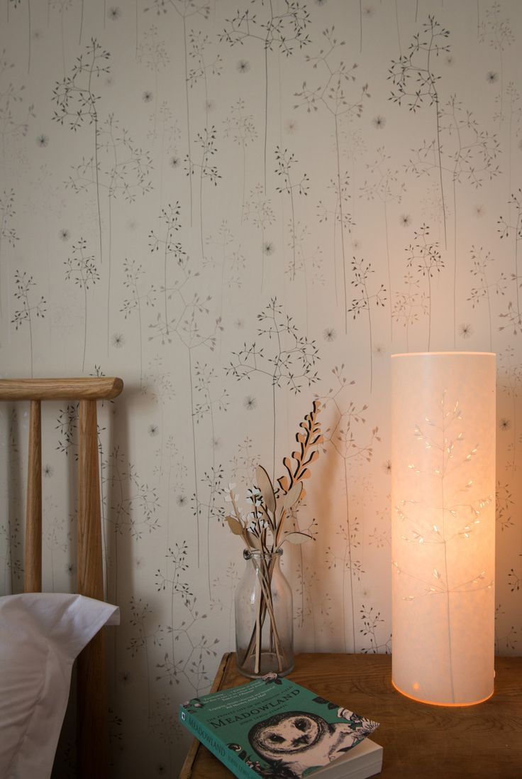 Hannah Nunn: Meadow Grass Wallpaper for the wall around the fireplace?