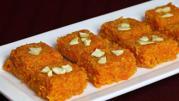 Carrot Burfi (Gajar Ki Burfi) Recipe by Manjula