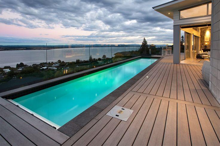 heated lap pool by Mayfair Pools