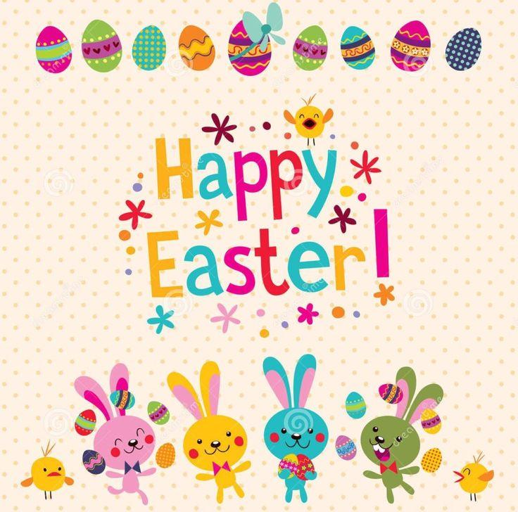 old school Happy Easter greetings