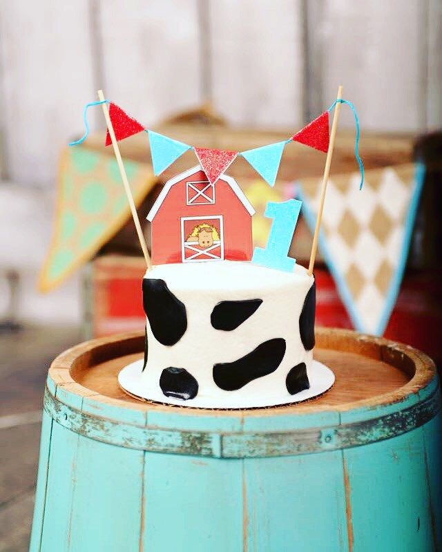 Barnyard Smash Cake, Barnyard Party                                                                                                                                                                                 More