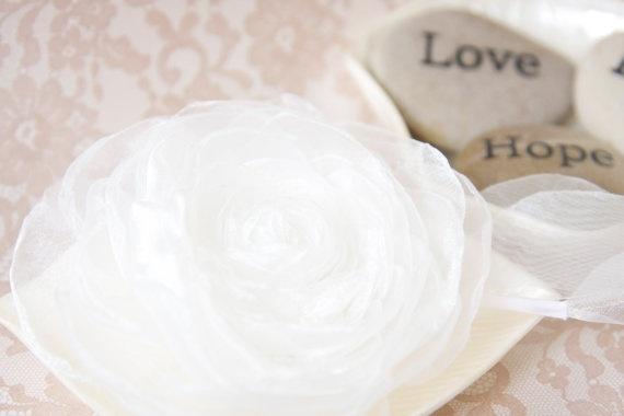 Off White Wedding Flower Hair Clip  Bridal by splendidblooms, $50.00
