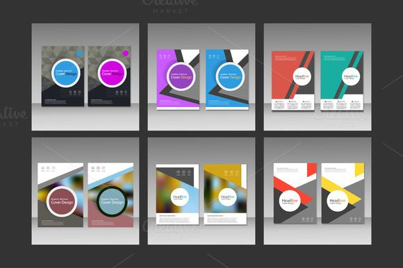 Brochure design template Vol.2 by Haisonok on @creativemarket