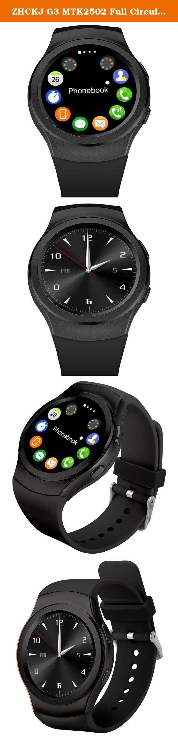 ZHCKJ G3 MTK2502 Full Circular Bluetooth Smartwatch SIM GPRS Smart Watch Smartwatch for iPhone Android Phone. Highlights . 1.3'' IPS Full circular capative touch screen , no black bar . MTK2502 CPU , Fully compatible with Apple iPhone & Android Phone . Support SIM / TF Card Slot , Allow you use the watch independently and download the APPs . Stainless Steel Body + TPU Watchband , Durable and Comfortable . 380mAh Large capacity battery , Long time standby . Magnetic Suction Charging…