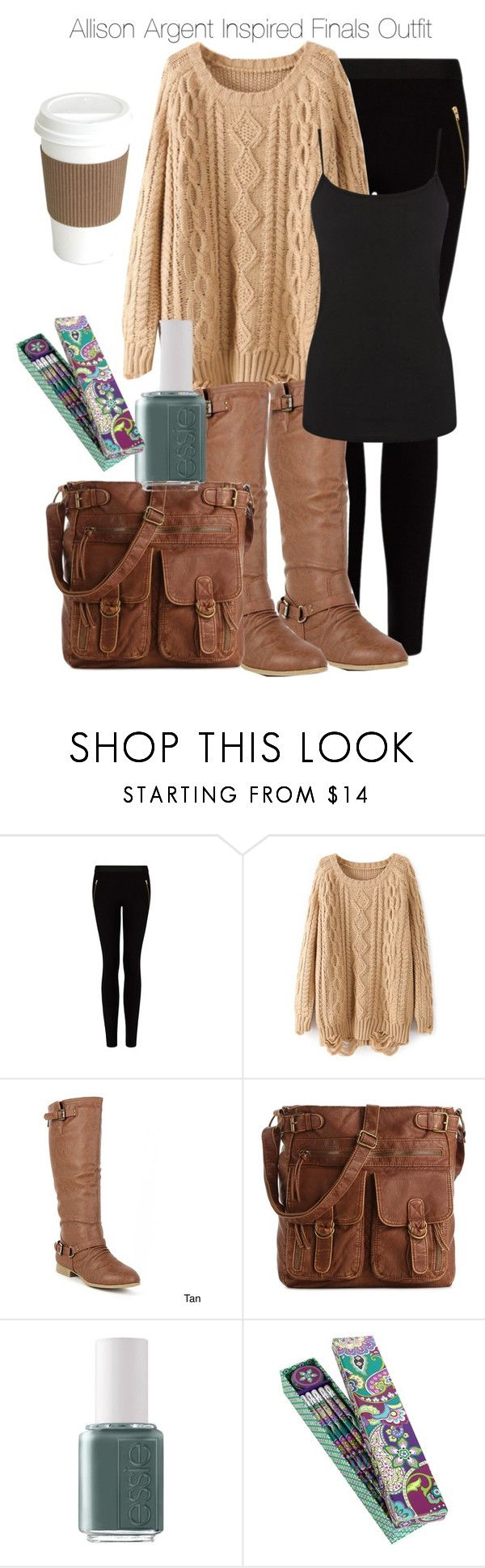 Teen Wolf - Allison Argent Inspired Finals Outfit by nathj on Polyvore featuring Warehouse, MANGO, Top Moda, Mix No. 6, Essie, Vera Bradley, allisonargent and tw