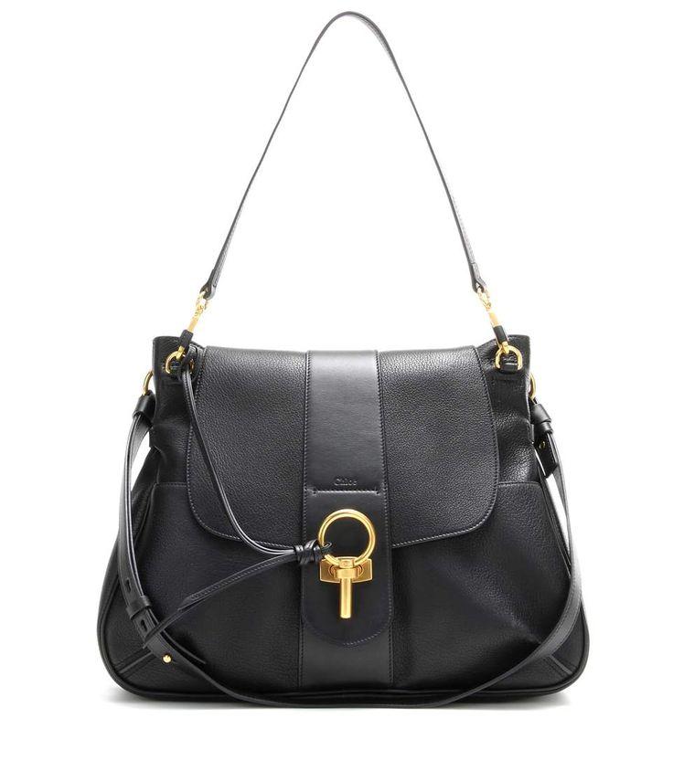 Chloe Lexa black leather crossbody bag