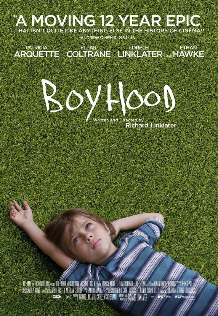 Boyhood: Drama rodado durante 12 años (en 39 días de rodaje desde 2002 a 2013), que cuenta la vida de un grupo de actores a través de la niñez y el día a día de la infancia de un chaval. La película sigue a Mason (Ellar Coltrane) desde los seis años durante algo más de una década en la vida de una familia media estadounidense.