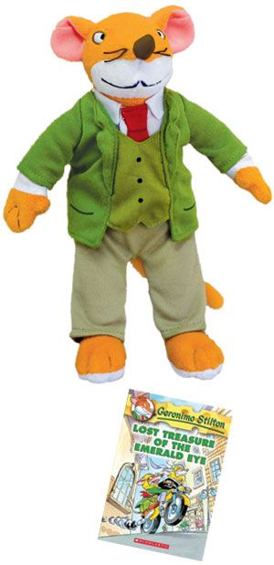 Maybe a Prize for next Geronimo Stilton Party? Geronimo Stilton doll and book from MerryMakers