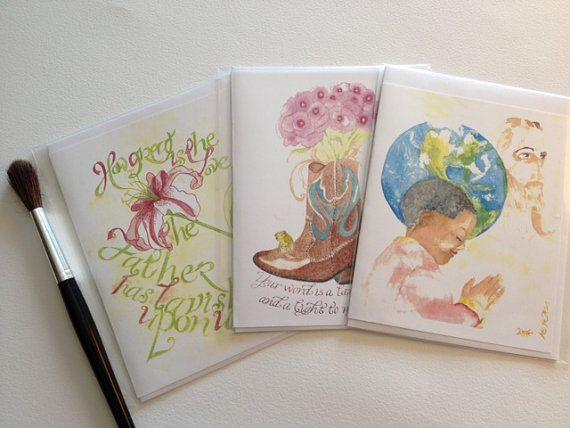 Handmade Christian Greeting Cards! Watercolor Series