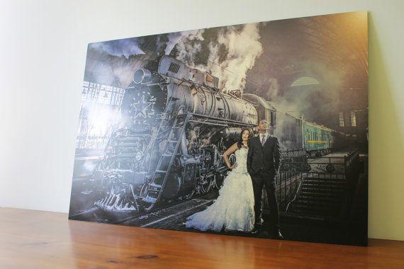 Aluminum Printing - Custom Wedding -  Engagement - Your photos printed on aluminum - PhotoMediaDecor on Etsy