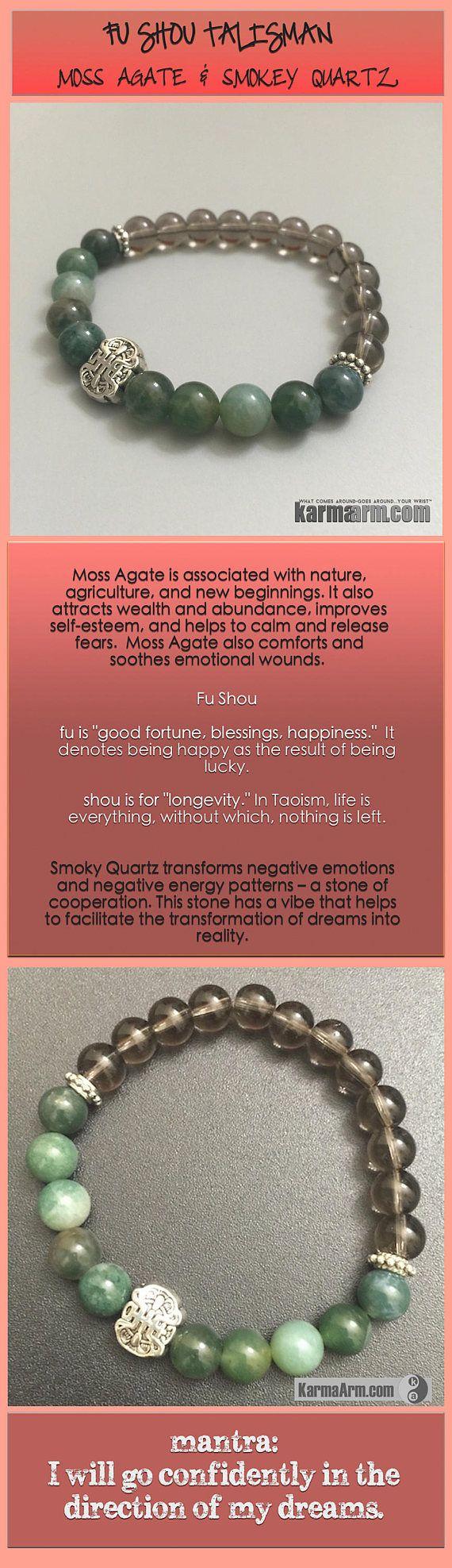 Green Moss Agate attracts #wealth and #abundance, improves #self-esteem, and helps to #calm and release fears. #Green #Moss #Agate #Smokey#Smoky #Quartz    #Beaded #Beads #giftsforhim #Bracelet #Bracelets #Buddhist #Chakra #Charm #Crystals #Energy #gifts #Handmade #Healing #Jewelry #Kundalini #LawOfAttraction #LOA #Love #Mala #Meditation #Mens #prayer #Reiki #Spiritual #Stacks #Stretch #Womens #Yoga #YogaBracelets #fertility #wisdom #Lucky