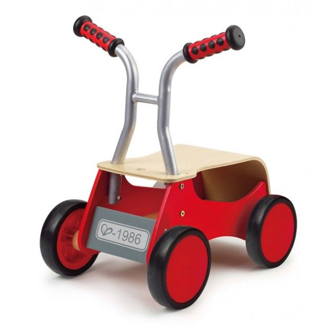 Hape Toys Little Red Rider   This Wooden Car By Hape Transforms From A  Balanced Walker To A Foot Powered Ride On.
