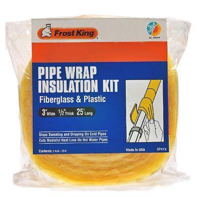 Frost King 1/2-in Fiberglass Plumbing Pipe Insulation