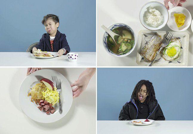 Nos Estados Unidos, o café da manhã é famoso por sua fartura e diversidade: ovos mexidos, bacon, panquecas, waffles e cereais de todos os tipos podem compor o que é, para os norte-americanos, a principal refeição do dia. Mas o que as crianças de outros países costumam comer no café da manhã? O pessoal da Cut Video, com a ajuda dos chefs do Kitchen Bowl, foi atrás, preparou os alimentos típicos da manhã em países como a Coreia, o Vietnã, a Finlândia e o Brasil e convidou crianças…