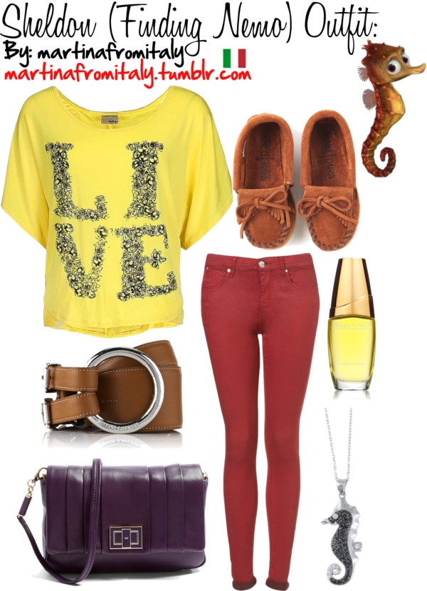 """""""Sheldon (Finding Nemo) Outfit:"""" by martinafromitaly ❤ liked on Polyvore"""