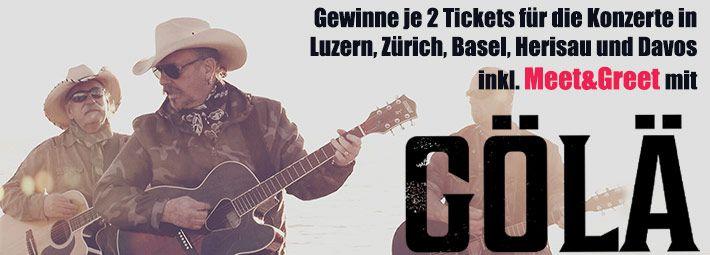 Gewinne jetzt 2 Tickets für die Gölä Tournee, inkl. einem Meet&Greet! Einfach Frage richtig beantworten und mit etwas Glück bist du dabei: http://ow.ly/GYJTa