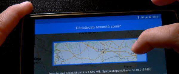 Sfat navigatie offline cu Google Maps si descarcare harti mai mari tot pe Google Harti - Tutorial - Download hărți Google Maps + sfat navigație offline