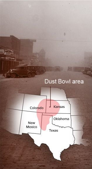 Oklahoma panhandle was in the heart of the Dust Bowl.