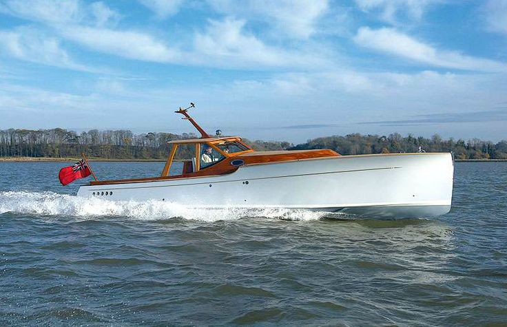 """Spirit Yacht P40 2. The P40 by Spirit Yachts is, and I say this without reservation, one of the most beautiful production boats in the world. The 40 foot powerboat is hand made from nature's carbon composite or """"wood"""" as it's commonly known, the advent of advanced epoxy compounds, modern wood preservatives, CAD software and CNC mills allow the company to build exceedingly strong, light hulls that'll outlast any fibreglass tub you throw at them."""