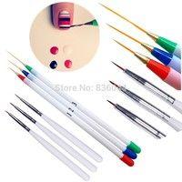 Wish   Set 6Pcs/Pack Fine Drawing Striping Liner Design Tips Nail Art Pen Brushes Brush Salon DIY Gel UV Tool Manicure