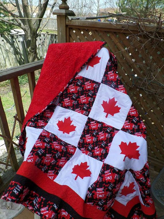 Very Cosy Canada Day Quilt by HeathersCabinQuilts on Etsy ...