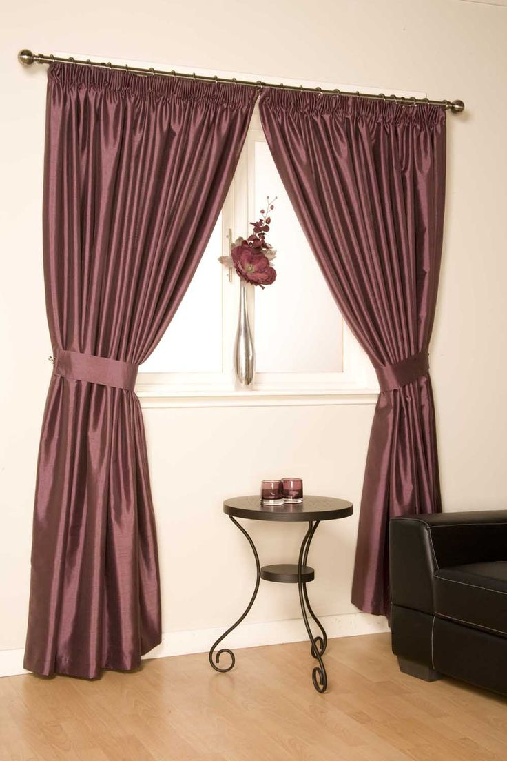 Bergamo - Mulberry Ready Made Curtains  A marvelous fully Lined purple pencil pleat curtain  http://www.ukcurtainsandinteriors.co.uk/acatalog/Bergamo-Mulberry-readymade-curtain-5.html