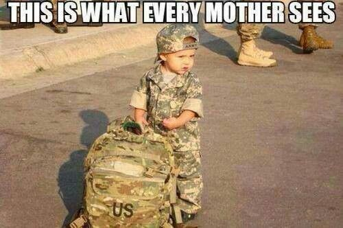 This is what every mother sees...when her boy leaves for the army.