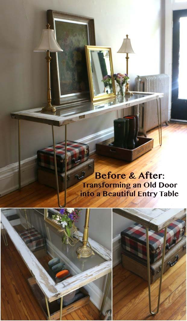 25 best ideas about old door tables on pinterest door. Black Bedroom Furniture Sets. Home Design Ideas