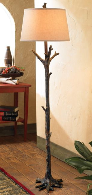 Black Forest Decor- Tree Branch Floor Lamp - OVERSTOCK (needs a much