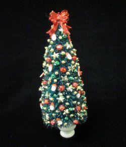Christmas tree w/santas
