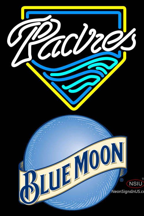 Blue Moon San Diego Padres MLB Real Neon Glass Tube Neon Sign,Affordable and durable,Made in USA,if you want to get it ,please click the visit button or go to my website,you can get everything neon from us. based in CA USA, free shipping and 1 year warranty , 24/7 service