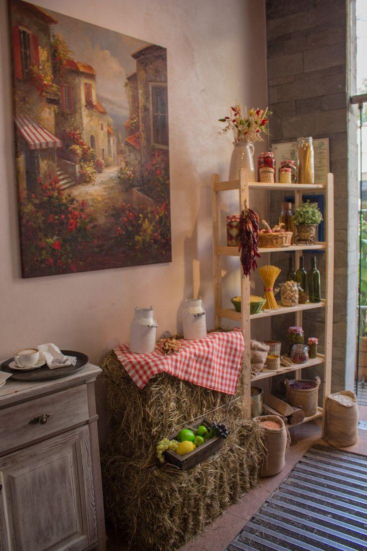 """Декор в кантри стиле для итальянского кафе""""Руккола"""". Restaurant decor, country rustic style, Itally restaurant"""