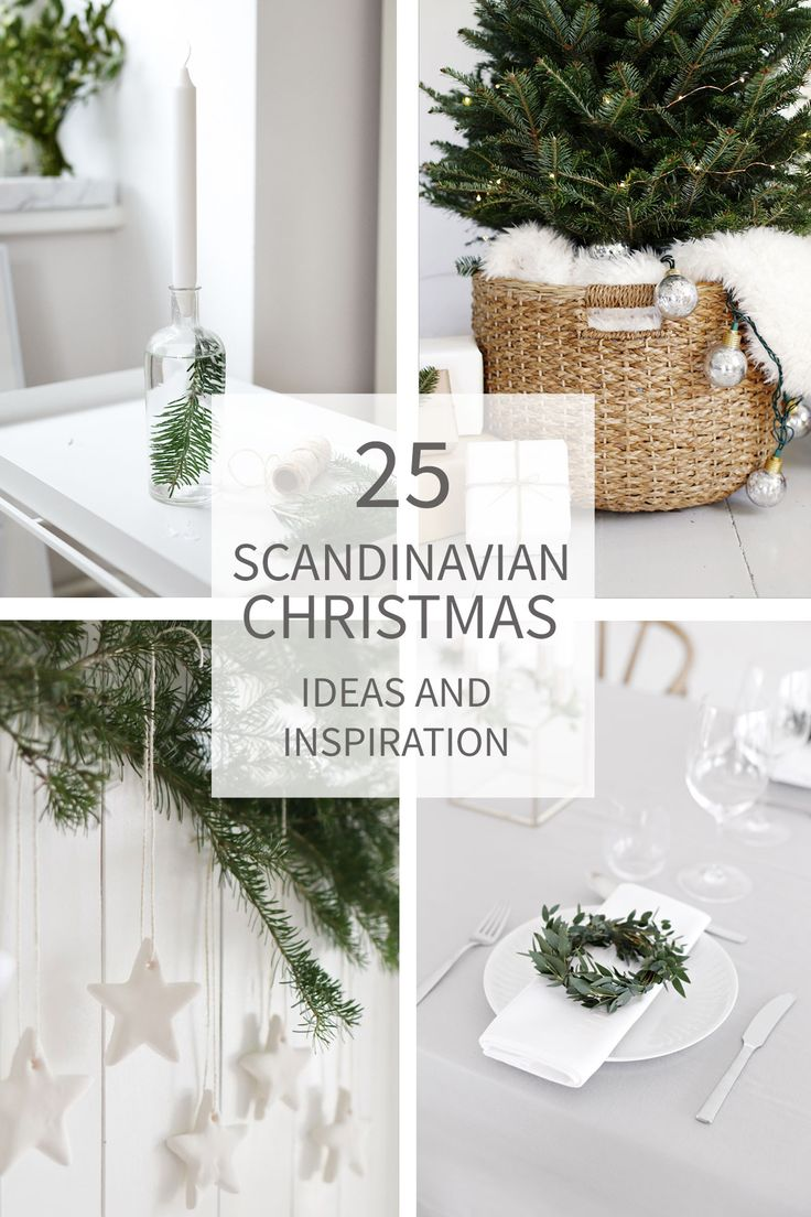 Hoping for a more simplistic Holiday season?  Embracing a Scandinavian Christmas just might be your ticket!  25 images and ideas for a Scandinavian Christmas.