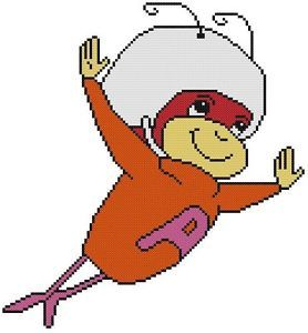 Cross Stitch Knit Crochet Plastic Canvas Waste Canvas Rug Hooking  Bead Work Pattern . This is Up and at 'em Atom Ant!  So cute! The Atom Ant/Secret Squirrel Show was an animated series which featured the pint sized hero Atom Ant and super-sleuth Secret Squirrel.  He lasted one season from 1965 to 1966. https://www.pinterest.com/resparkled/