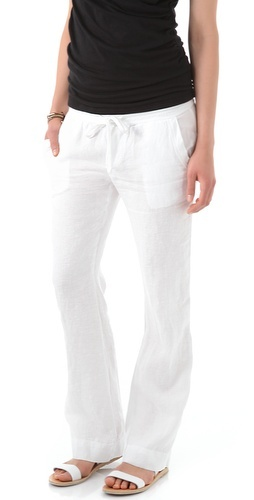 James Perse white linen pants.