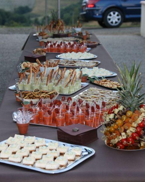 Organiser un buffet pour 50 personnes - L'apéritif