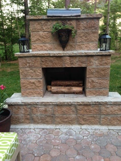 728 best Outdoor fireplace pictures images on Pinterest ... on Diy Outside Fireplace id=58650