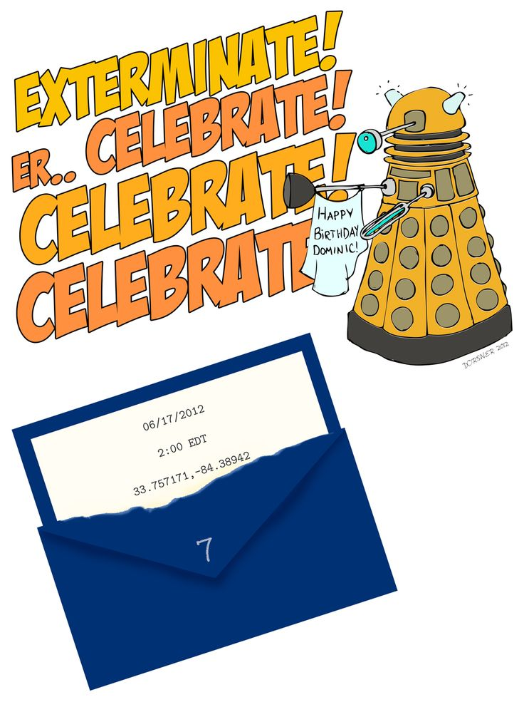 Dr Who Birthday Party Invitation downloadable template