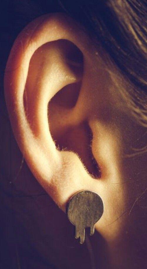 Black Milk Logo earrings