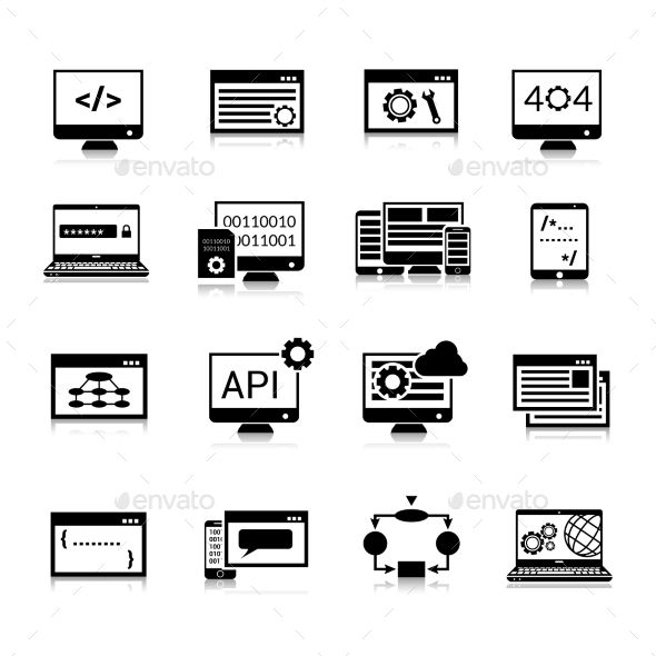 Programming Icons Black